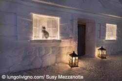 Übernachten in einem Snow-Chalet