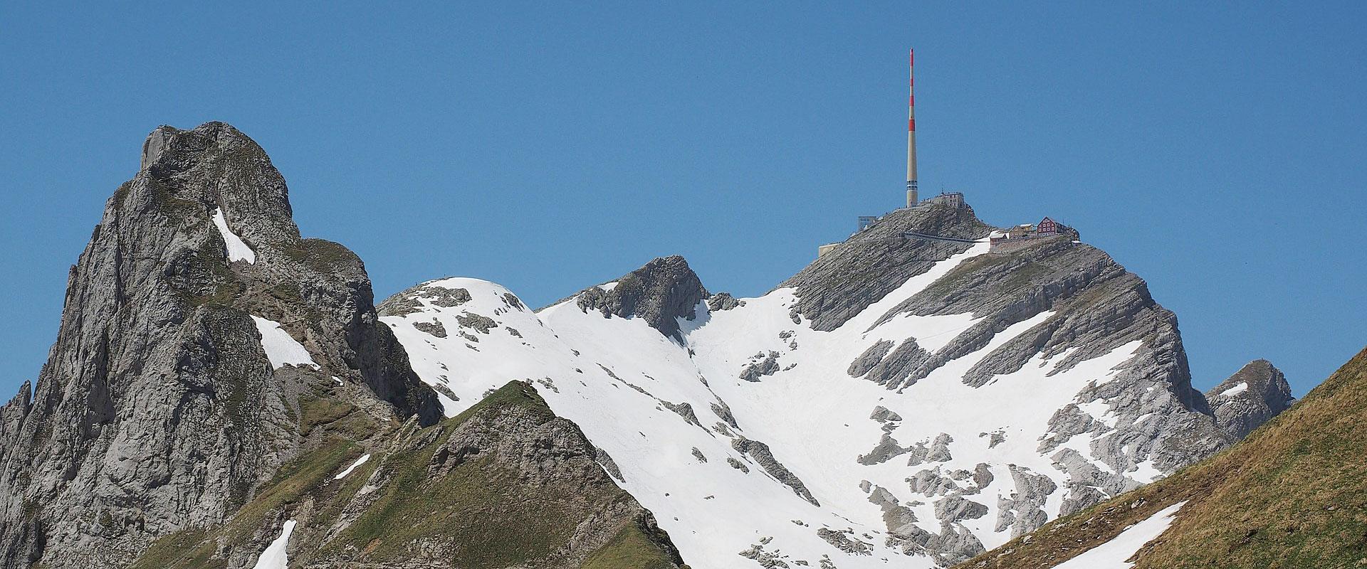 Säntis im Kanton Appenzell-Ausserrhoden