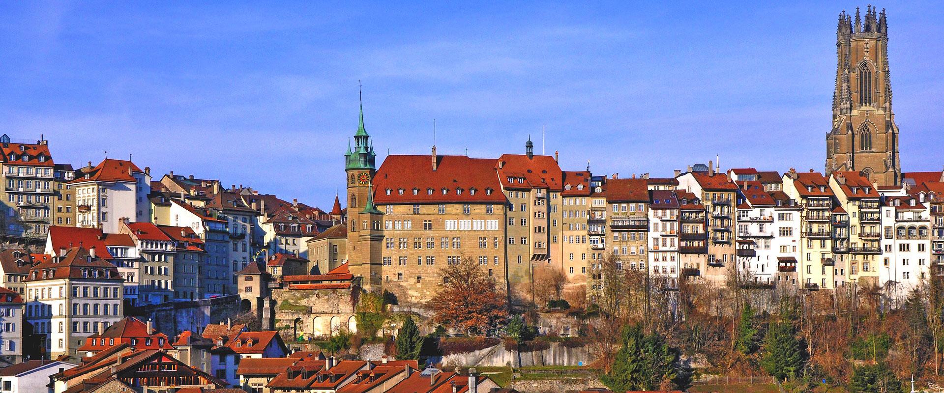 Fribourg - Mittelpunkt des gleichnamigen Kantons