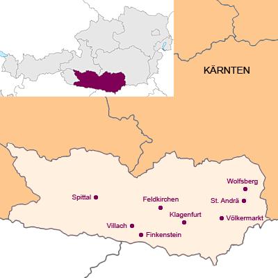 Bundesland Kärnten Österreich