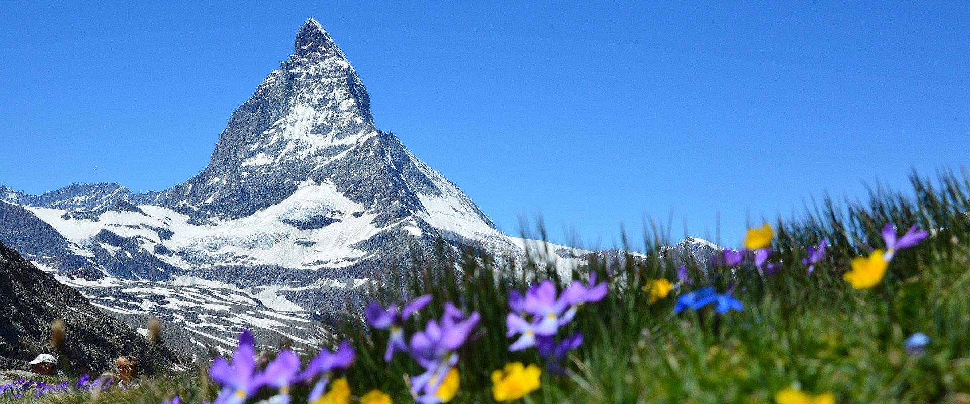 Das Matterhorn bei Zermatt im Wallis