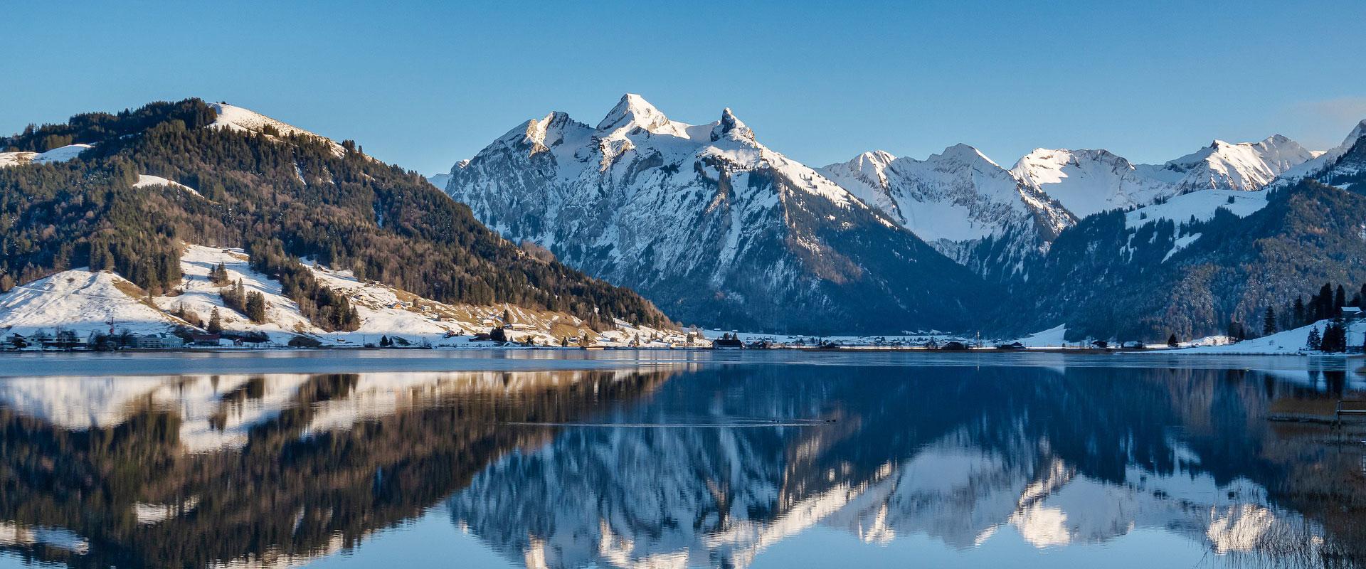 Sihlsee im Kanton Schwyz