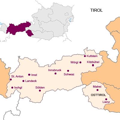 Bundesland Tirol Österreich