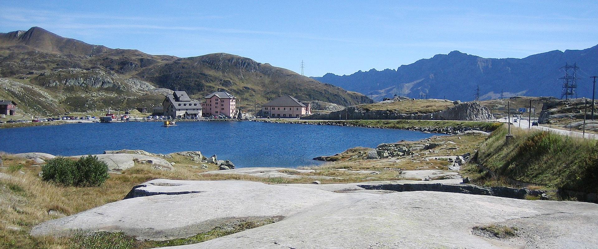 Gotthard-Passhöhe im Kanton Uri