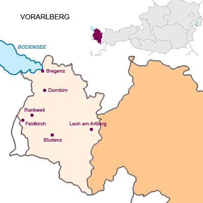 Bundesland Vorarlberg Österreich