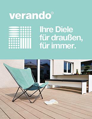 verando - Terrassendielen in bestechender Holzoptik mit dem Material Resysta