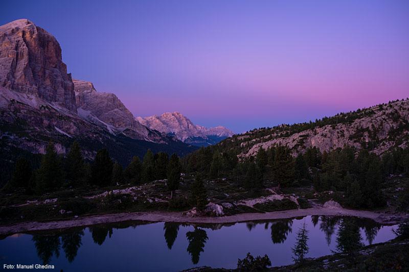 Gute Nacht: Zu später Stunde werden Wanderer mit einzigartigen Ausblicken belohnt.